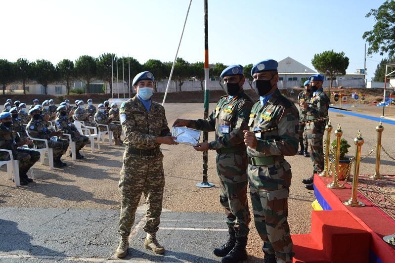 哈萨克斯坦驻黎巴嫩维和部队官兵获奖状
