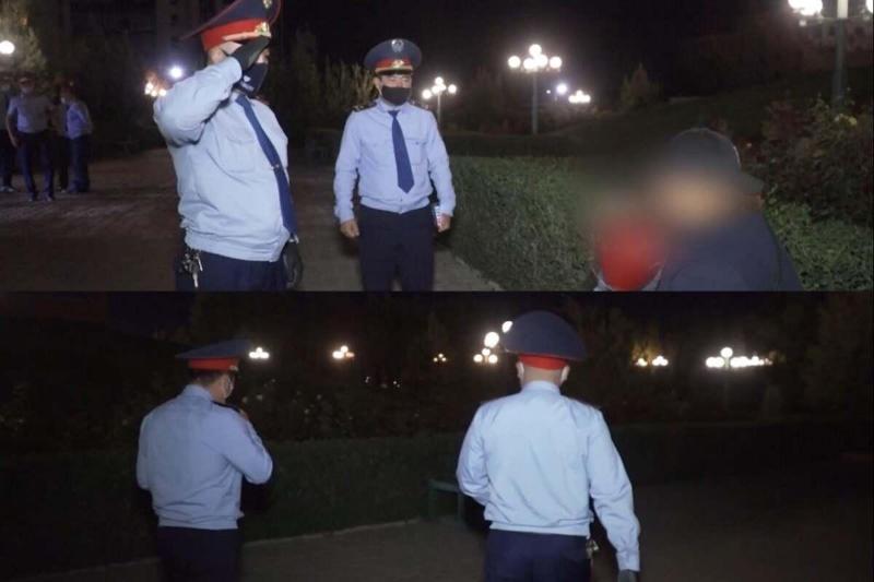 Подростки торговали цветами ночью в Шымкенте