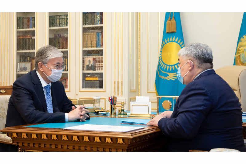 托卡耶夫总统接见国务秘书