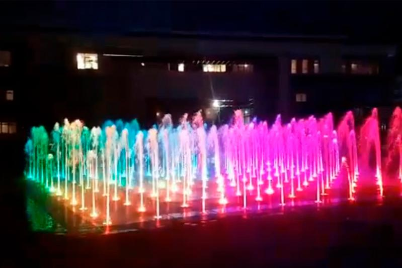 «Сухой» пешеходный фонтан появился в Кокшетау