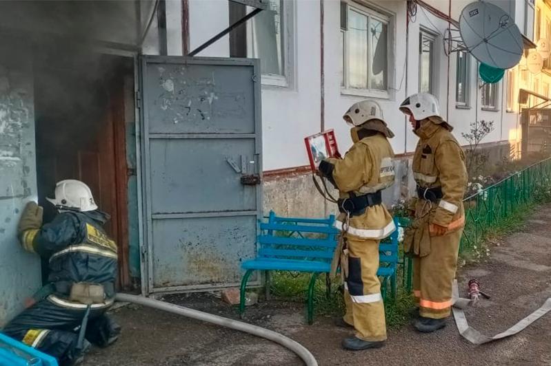 Три человека спасены из огня в Акмолинской области