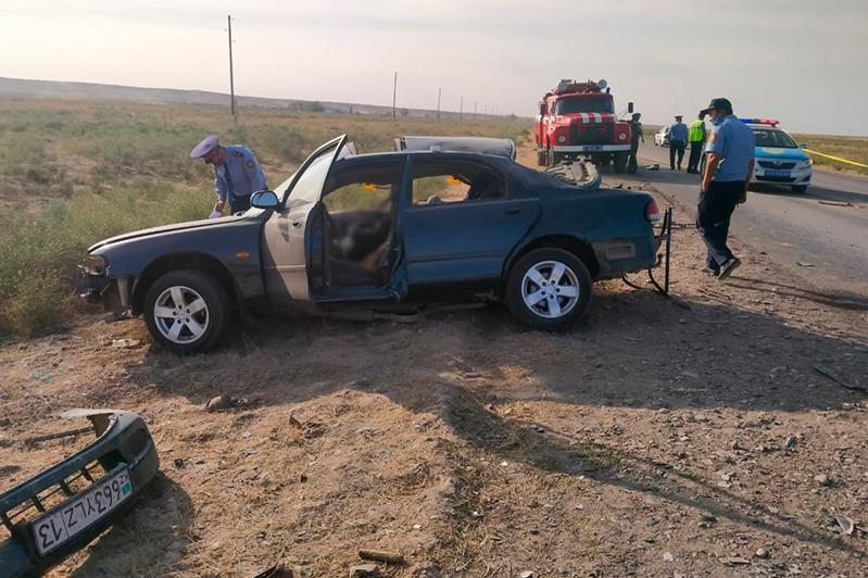 Три человека погибли в ДТП в Туркестанской области