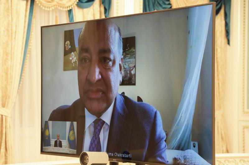ҚР Президенті Сума Чакрабартимен Реформалар жөніндегі жоғары кеңес отырысына дайындықты талқылады