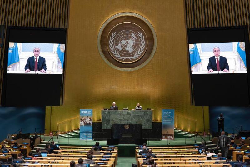 Президент РК выступил на общеполитических дебатах 75-й сессии Генассамблеи ООН