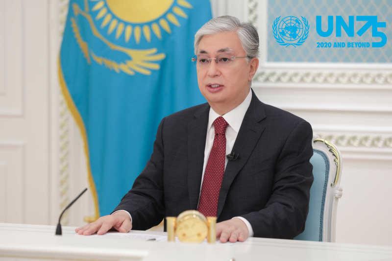 哈萨克斯坦总统托卡耶夫在联合国大会75周年一般性辩论中发言