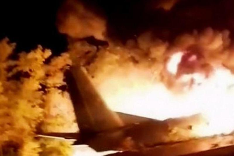 В Украине разбился военный самолет с курсантами на борту