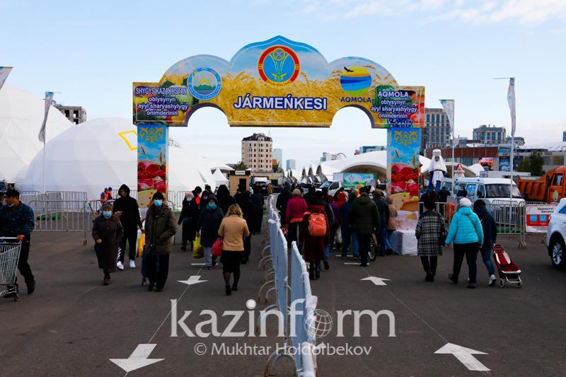 Елордада Ақмола облысы ауыл шаруашылығы өнімдерінің жәрмеңкесі өтіп жатыр