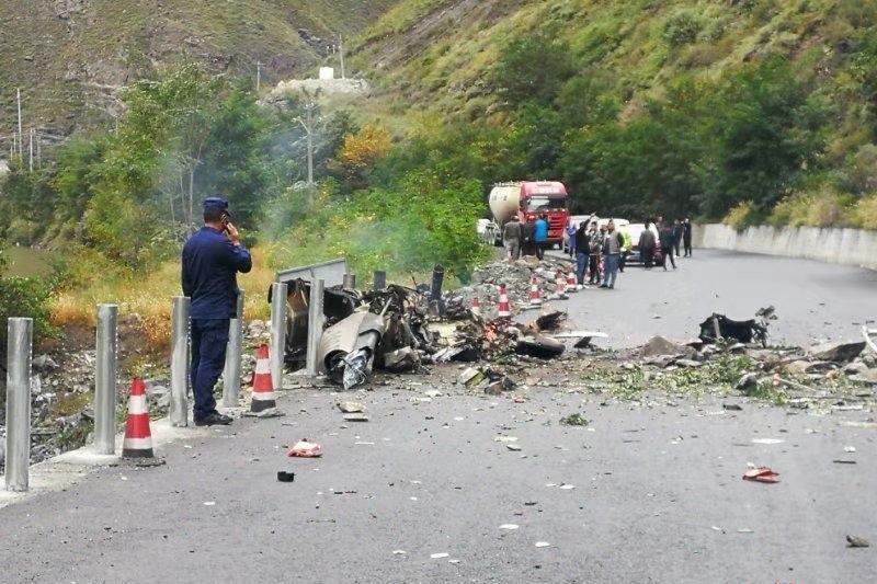 В Китае потерпел крушение вертолет