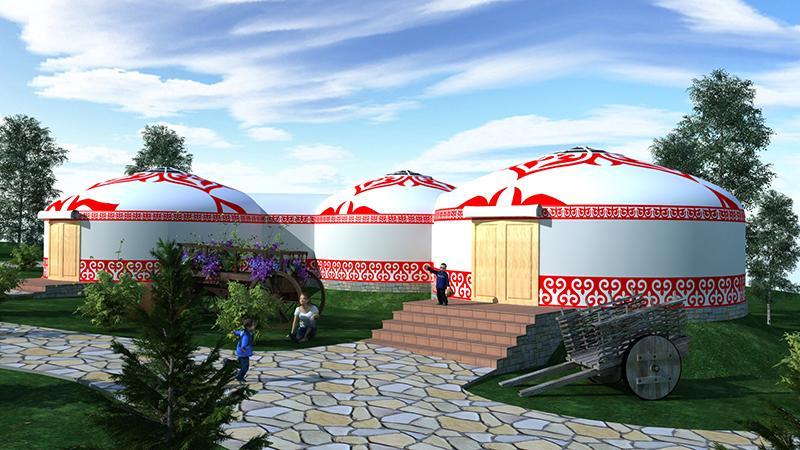 Жамбыл облысының Көксай шатқалында этноауыл салынып жатыр
