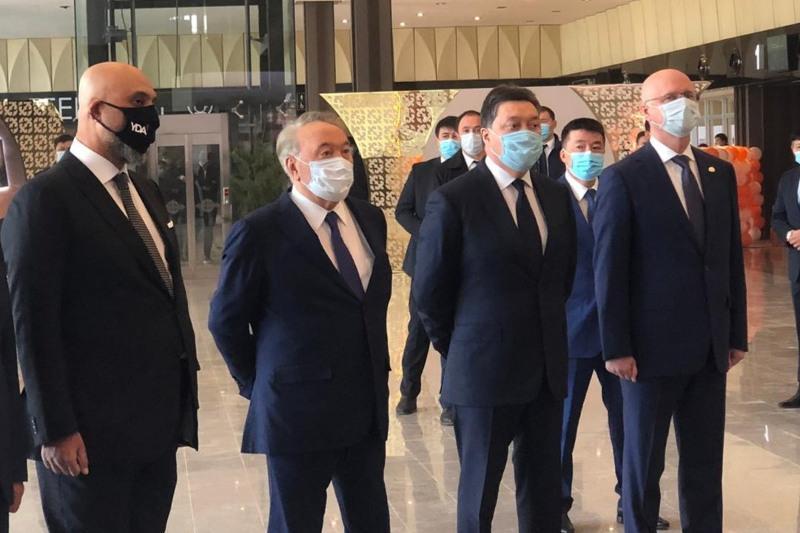 Nursultan Nazarbayev visits new facilities in Turkestan city