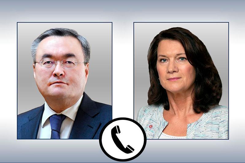 特列吾别尔德同瑞典外交大臣林德通电话