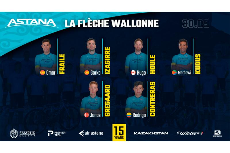 Astana Pro Team reveal team roster for La Fleche Wallonne 2020