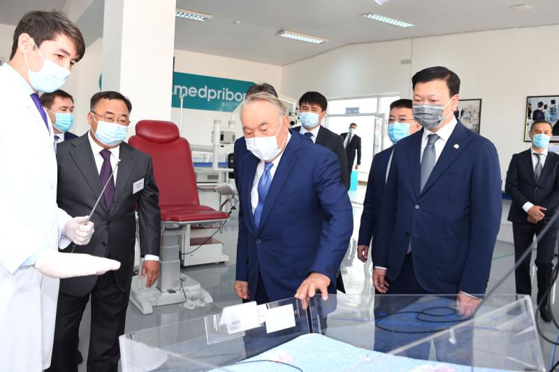 Elbasy tours Kazmedpribor enterprise in Shymkent