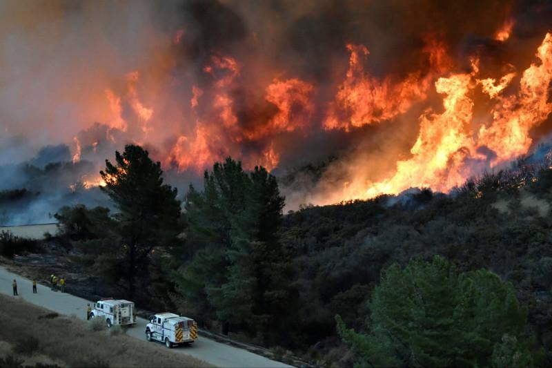 美国加州野火 州长宣布三个县进入紧急状态