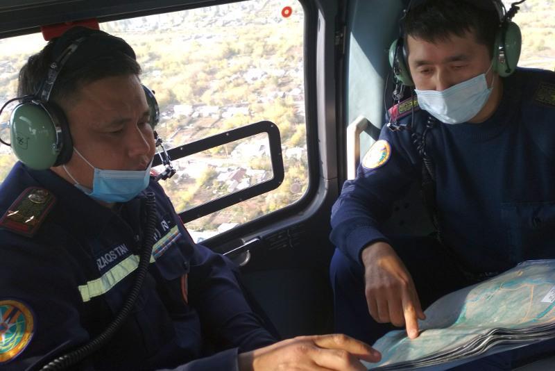 Состояние дамб и защитных валов в Карагандинской области осмотрели с воздуха