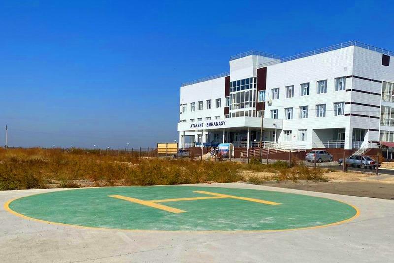 Вертолетную площадку для райбольницы построил туркестанский предприниматель