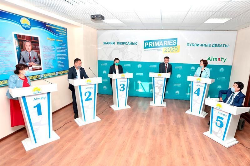 Участники праймериз в Алматы рассказали о своих целях и программах