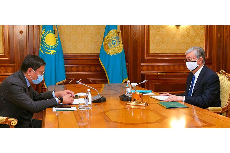 Касым-Жомарт Токаев принял председателя Нацбанка