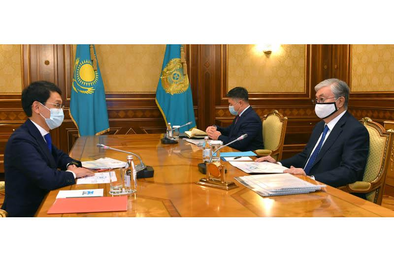 Head of State receives Digital Development Minister Bagdat Mussin