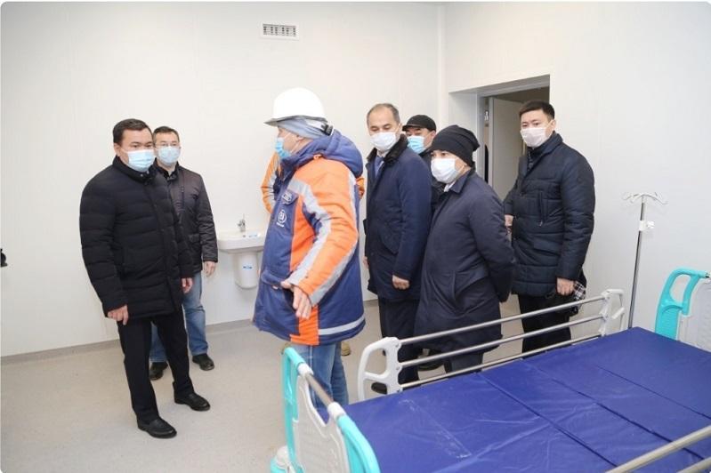 杰兹卡兹甘市新建一家模块化传染病医院