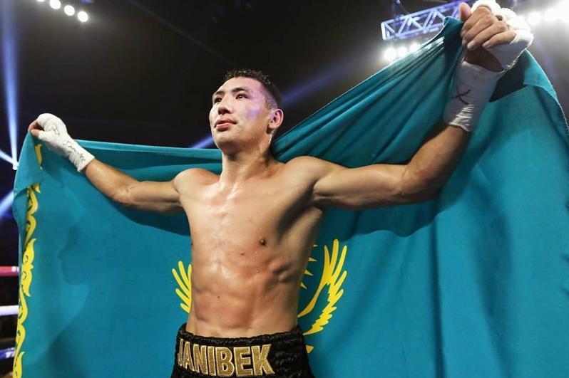 Kazakhstani Zhanibek Alimkhanuly in The Ring magazine's top-10