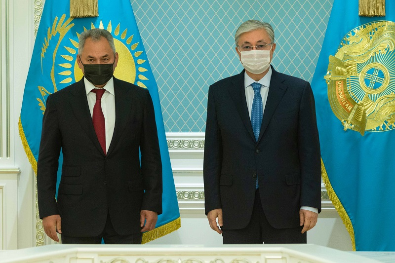 President of Kazakhstan receives Minister of Defense of Russia
