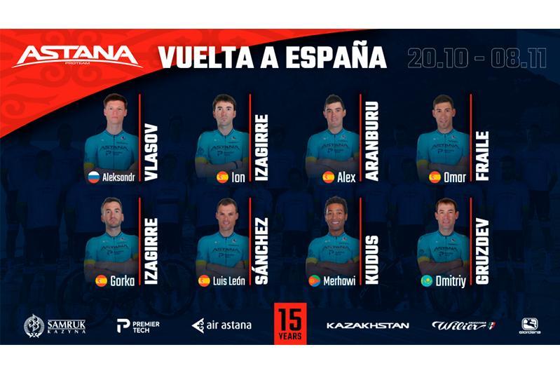 Astana Pro Team announces its roster for Vuelta a España 2020
