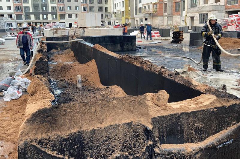 Новостройка горела в Нур-Султане