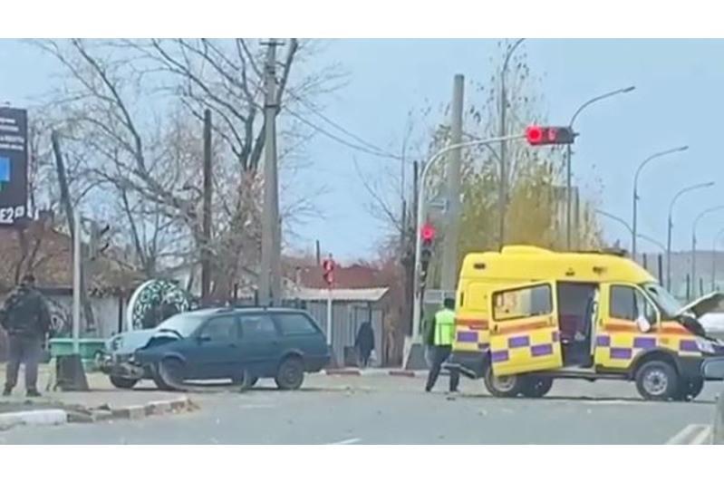 ДТП с участием машины скорой помощи произошло в Кокшетау