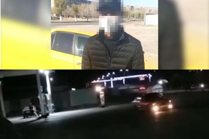 Алматинец наказан за ночной дрифт в Жамбылской области