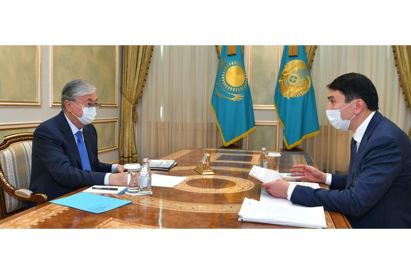Президент принял министра экологии, геологии и природных ресурсов