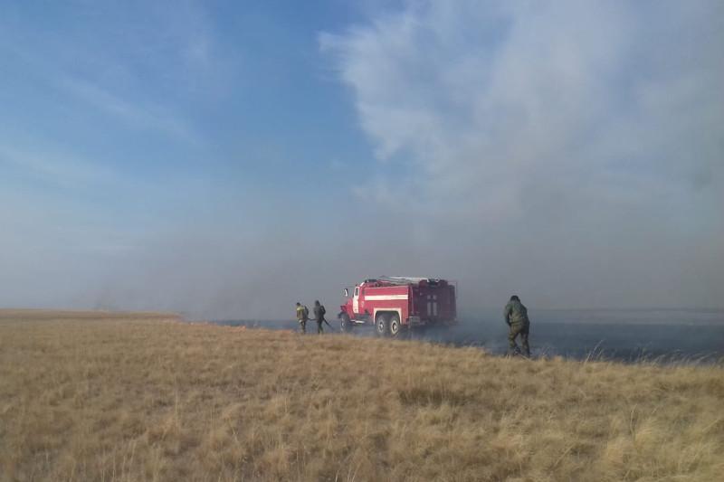 Ликвидирован пожар площадью более тысячи га в Тайыншинском районе СКО