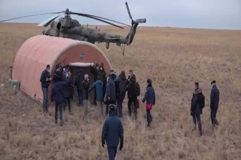 Корабль «Союз МС-16» с тремя членами экипажа МК совершил посадку в Казахстане
