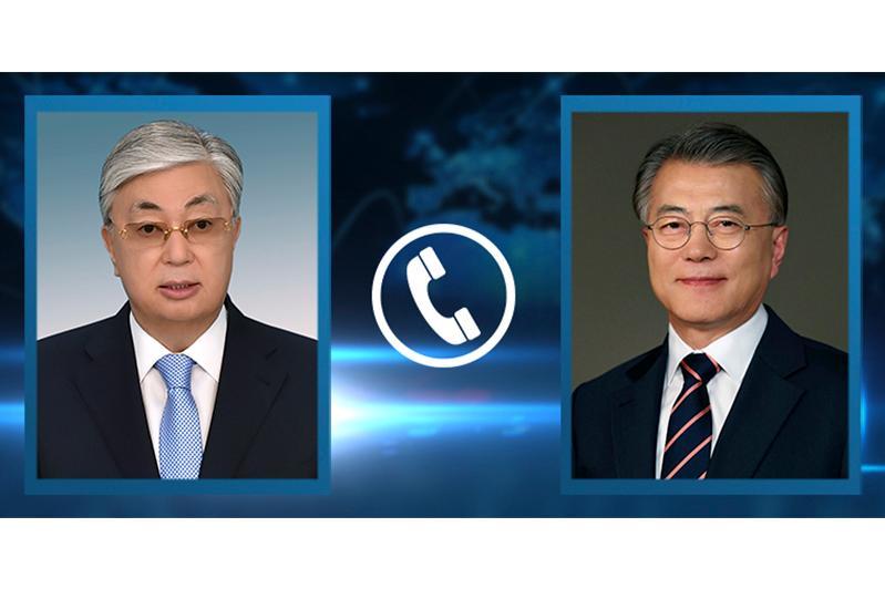 President Kassym-Jomart Tokayev had telephone conversation with President of the Republic of Korea Moon Jae-in