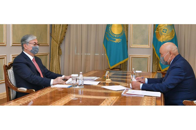 Umirzak Shukeyev reports to President on Turkestan region