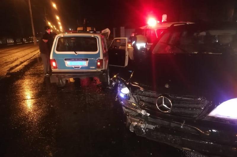 Патрульный автомобиль попал в ДТП  в Усть-Каменогорске