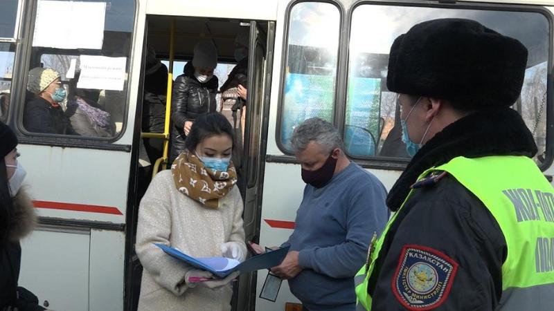 Мониторинговые группы проверили автобусы в Акмолинской области