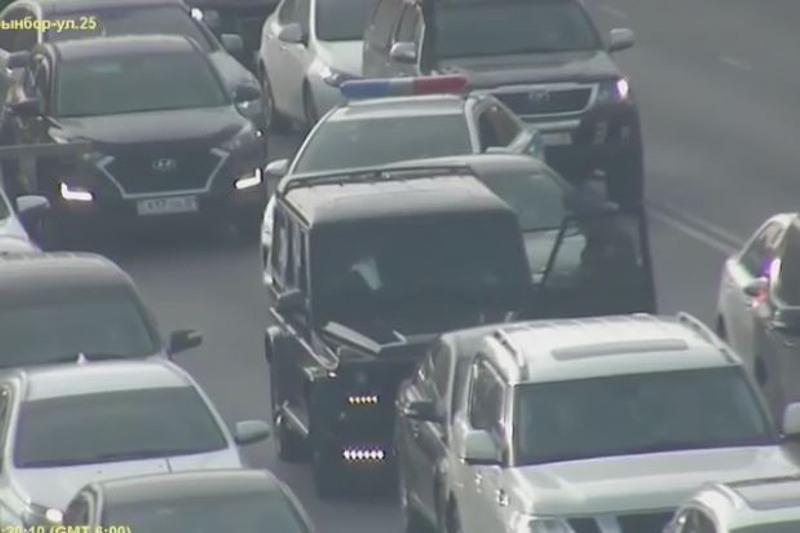 Автомобиль с подложными дипломатическими номерами задержали в Нур-Султане