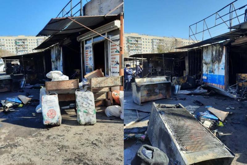 Задержаны подозреваемые в поджоге контейнеров на рынке «Арай» в Караганде