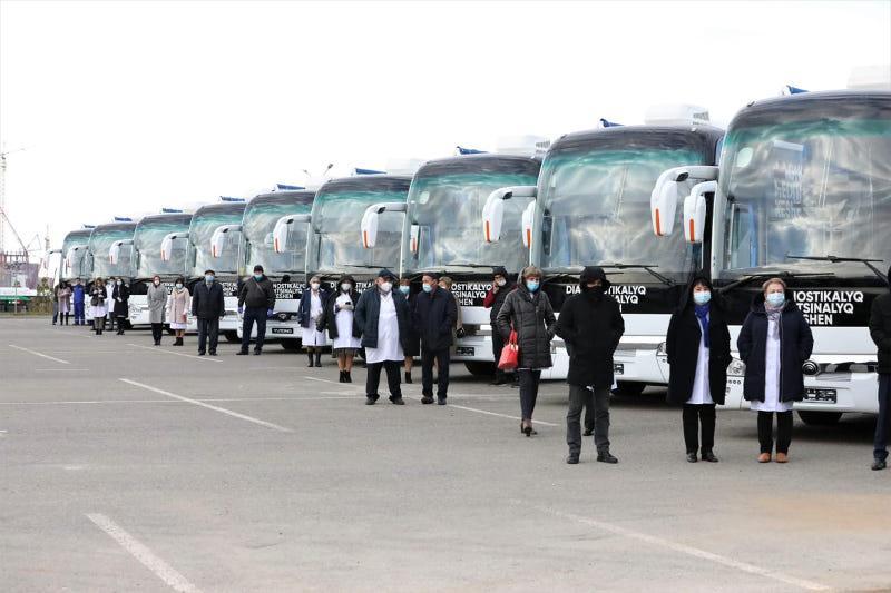 8 medical buses arrive in Amkola rgn