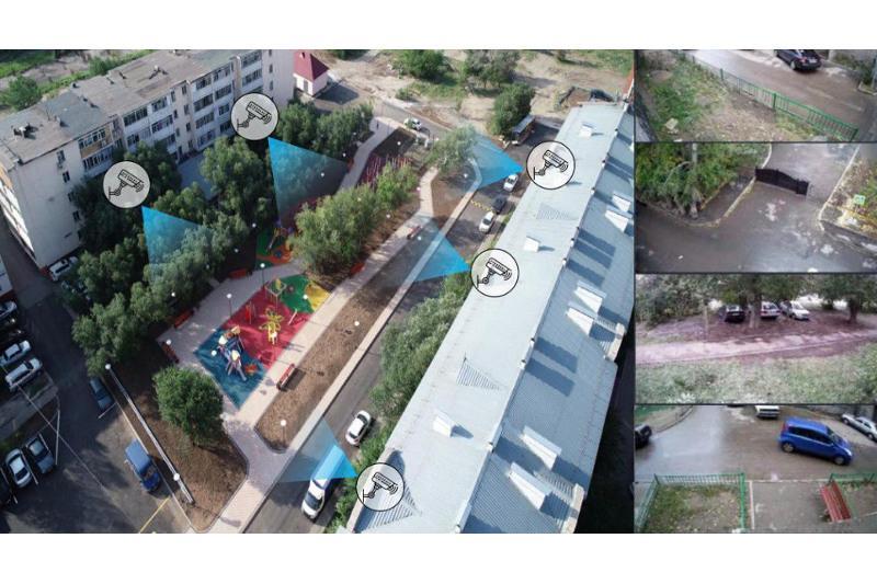 45 камер общего видеонаблюдения установлено в столичных дворах