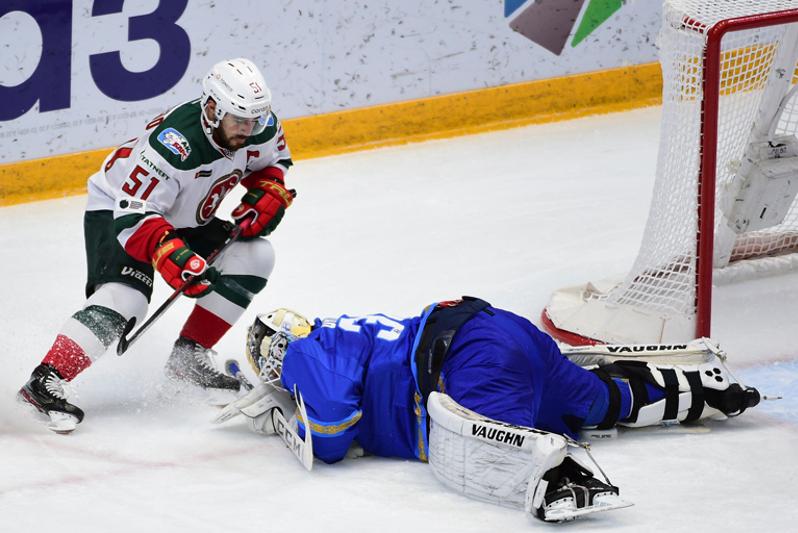 КХЛ:«Барыс» проиграл«Ак Барсу» в домашнем матче