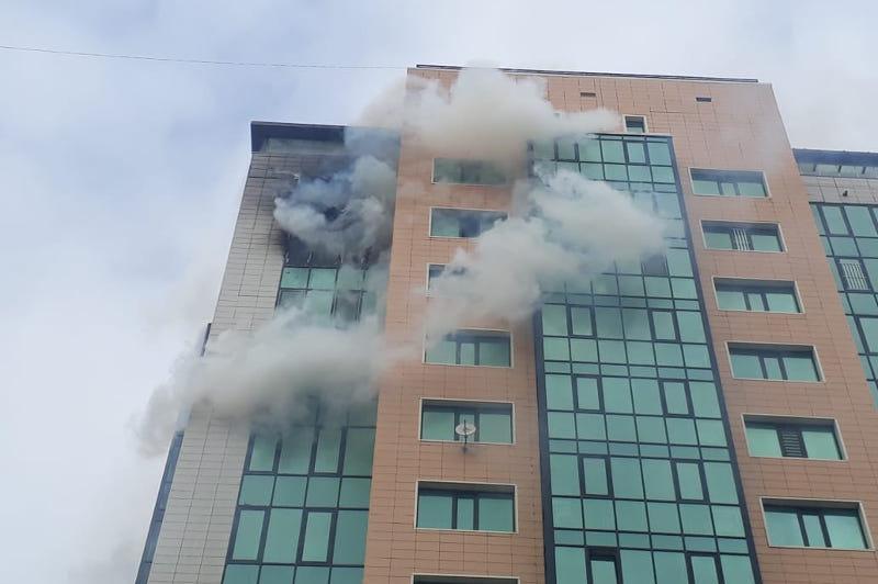 Пожар в 16-этажном доме произошел в Нур-Султане