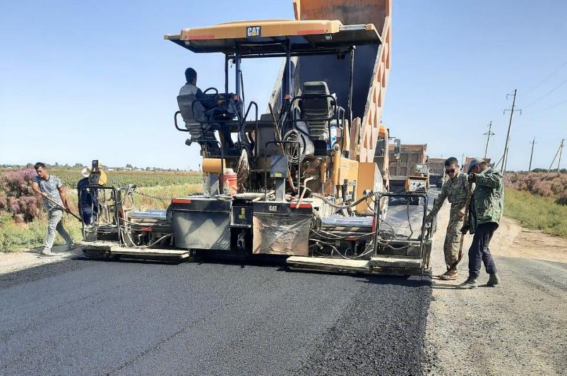 190 км дорог обновят в этом году в Жетысайском районе Туркестанской области