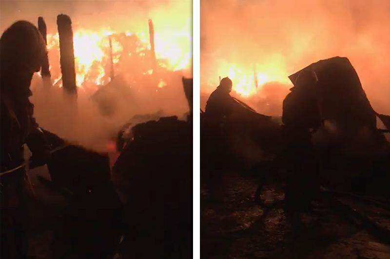 Крупный пожар в крестьянском хозяйстве в ВКО: подозревают поджог