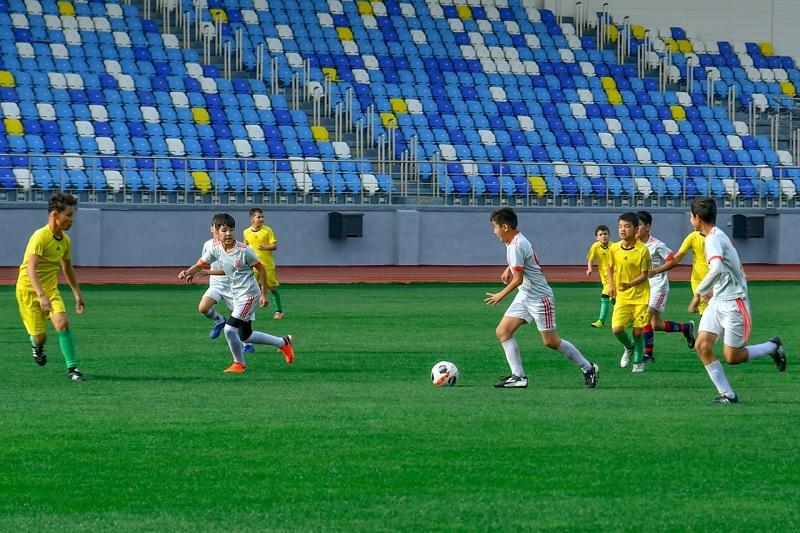 Түркістан-арена стадионында алғашқы ойын өтті