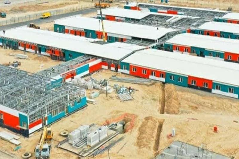 В Туркестане строится модульная больница на 200 мест