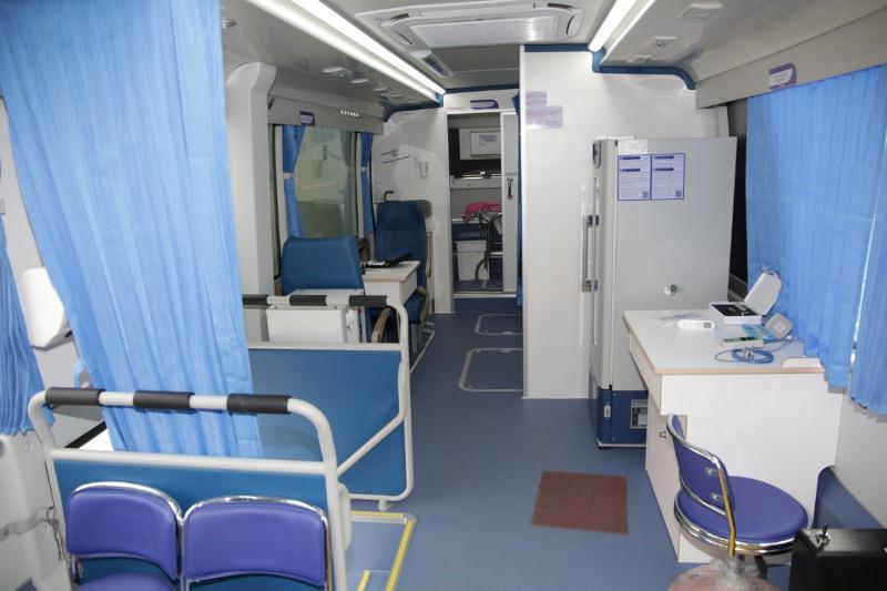 Все районы Жамбылской области получили  мобильные медицинские диагностические комплексы