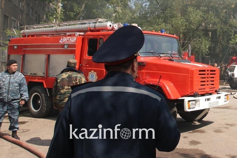 «Пожар» тушили на элеваторе в Усть-Каменогорске