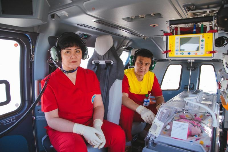 В РК медавиацией выполнено более 1600 вылетов за пациентами, дважды – за донорскими органами